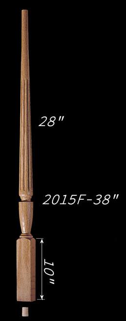 """C-2015F 38"""" Fluted Carolina Baluster"""