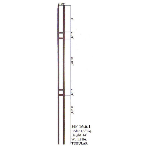 HF16.6.1 Small Double Square Hollow Baluster 2