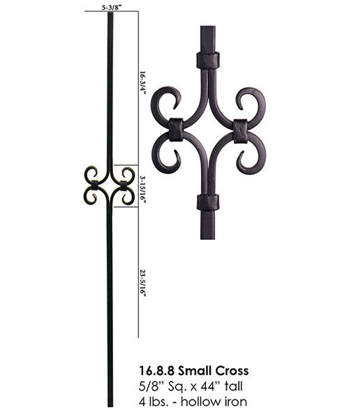 HF16.8.8 Single Diamond Designer Tubular Baluster