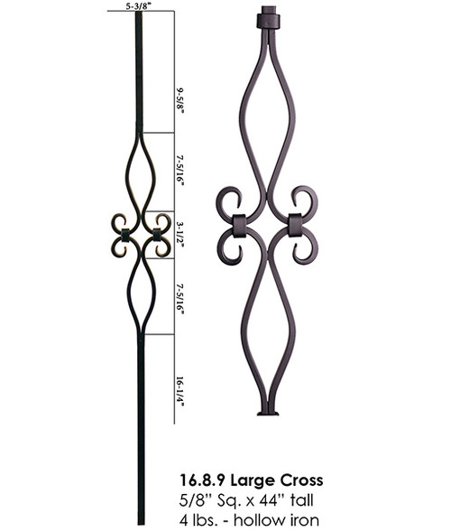 HF16.8.9 Double Diamond Designer Tubular Baluster