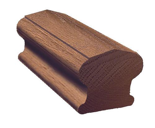 6310P Red Oak Plowed Handrail