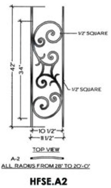 HFSE.A2 Seville Iron Panel