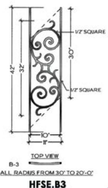 HFSE.B1 Seville Iron Panel