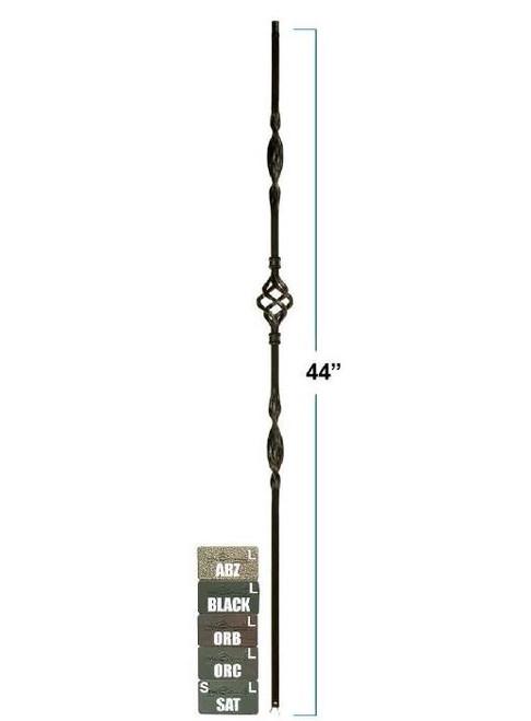 M8044 Single Basket Double Ribbon Iron Baluster