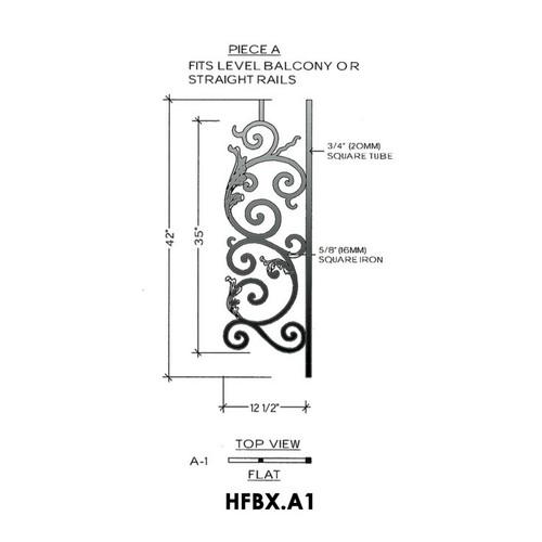 HFBX.A1 Bordeaux Iron Panel