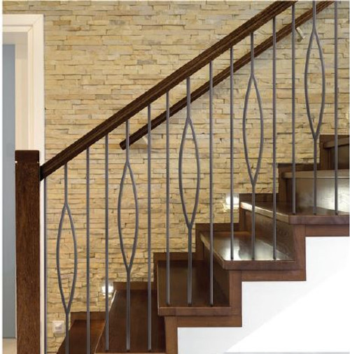 Ash Gray 16.6.7 balusters shown with 16.2.1 plain bars.