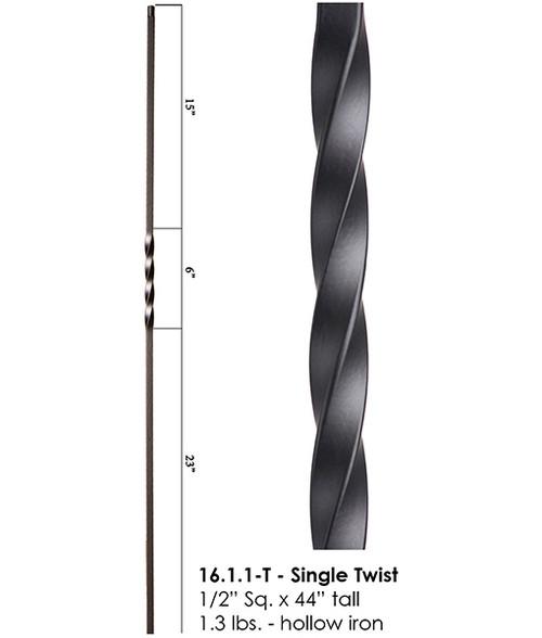 HF16.1.1-T Single Twist Tubular Steel Baluster