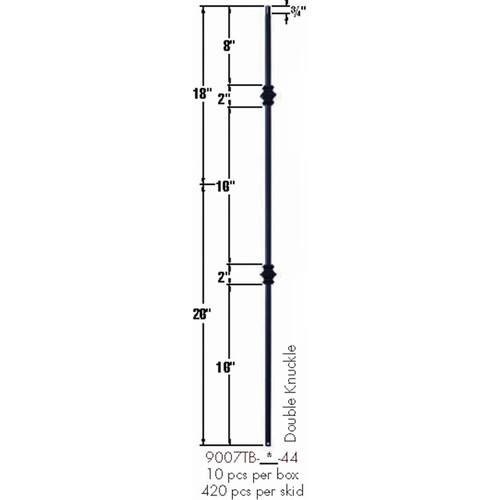 9007TB Double Knuckle Tubular Steel Baluster