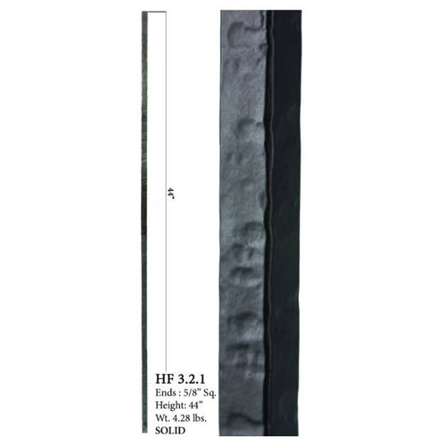 HF3.2.1 Square Plain Solid Wentworth Baluster