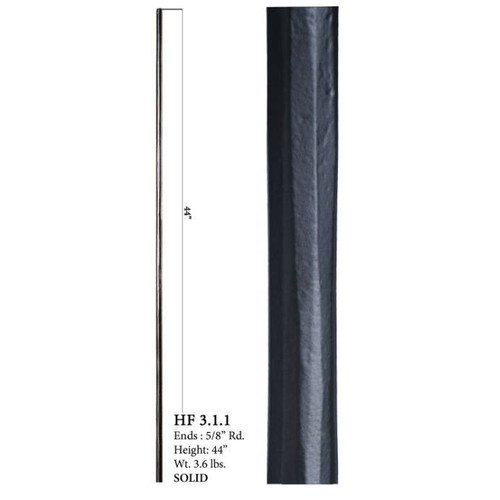 HF3.1.1 Round Plain Solid Wentworth Baluster