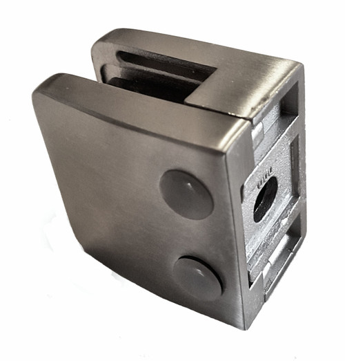 GC55SQ304 Stainless Steel Glass Clamp, back view