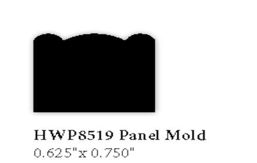 """8519 5/8"""" x 3/4"""" Hardwood Panel Mold"""