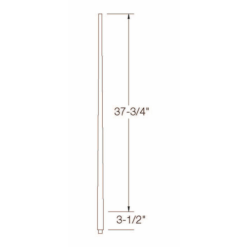 "A-5040 1-1/4"" x 42"" Colonial Long Tapered Baluster Dimensional Information"