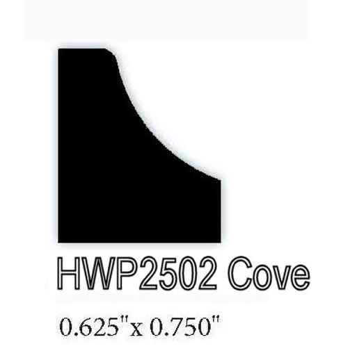 "2502  .625"" x 0.75"" Cove Molding"
