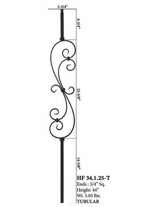 HF34.1.25-T MEGA S-Scroll Steel Baluster 2