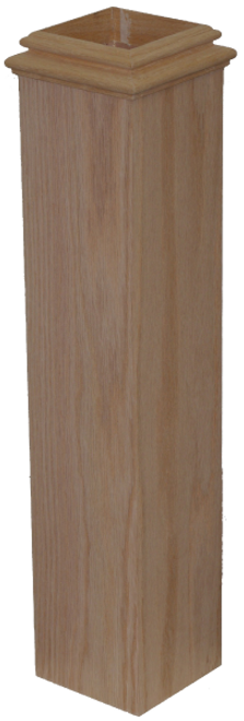 "959 Box Newel Sleeve for 3-1/2"" Newels"