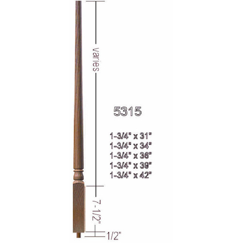 """5315 31"""" Colonial Pin Top Baluster"""