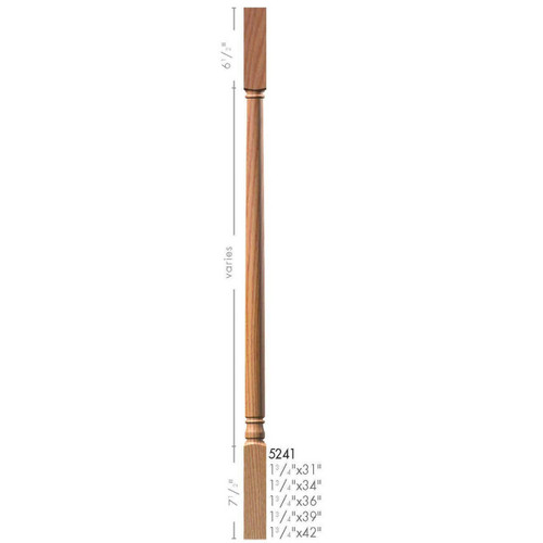 """5241 42"""" Colonial Square Top Baluster"""