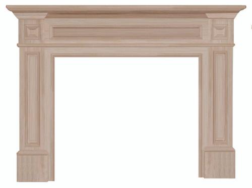 "The Classique Fireplace Mantel Surround, 56"" (140-56), Unfinished"