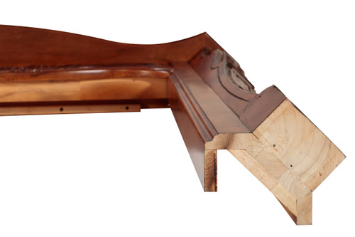 The Deauville 134 Fireplace Mantel Surround, Front Leg View