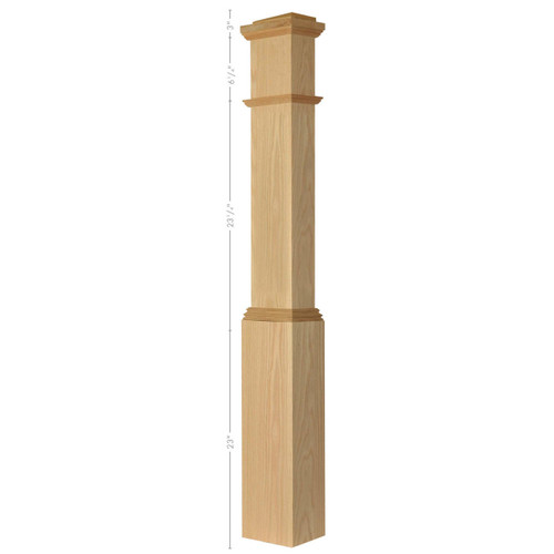 4092 Poplar HALF Box Newel Post