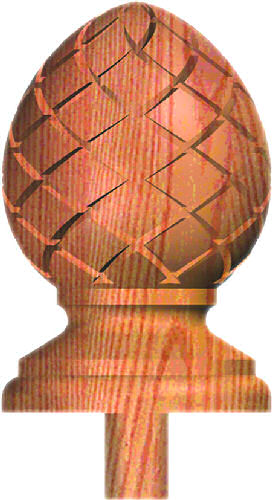 CP-414 Carved Pineapple Finial