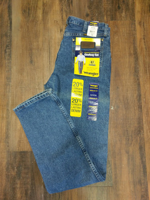 Wrangler Mens Jeans Dark Stone Regular Fit 47MWZDS, NEW, various sizes, 30% off new retail!