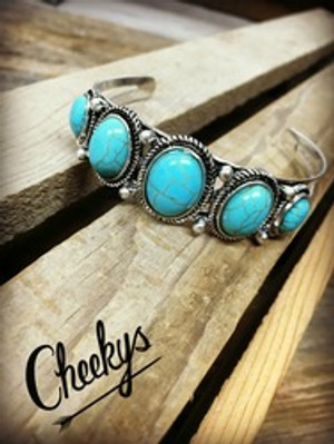 NEW Turquoise & Silver Cuff Bracelet