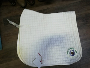 Custom Label White Dressage Pad with Wither Relief