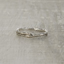 oxidized silver nature ring