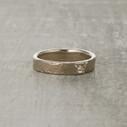 Monhegan rustic wedding ring cast from real birch bark.