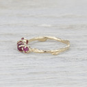 nature inspired ruby ring
