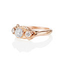 three stone engagement ring for her