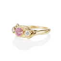 twig engagement ring pink sapphire