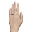 sapphire wedding band engagement ring