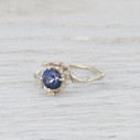 large blue sapphire solitaire ring