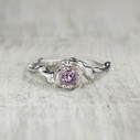 solitaire engagement ring pink sapphire