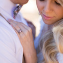 sapphire unique engagement ring pink