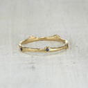 sapphire twig ring for her