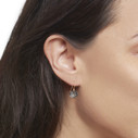 handcrafted pave earrings