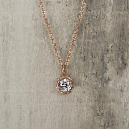 white sapphire pendant necklace
