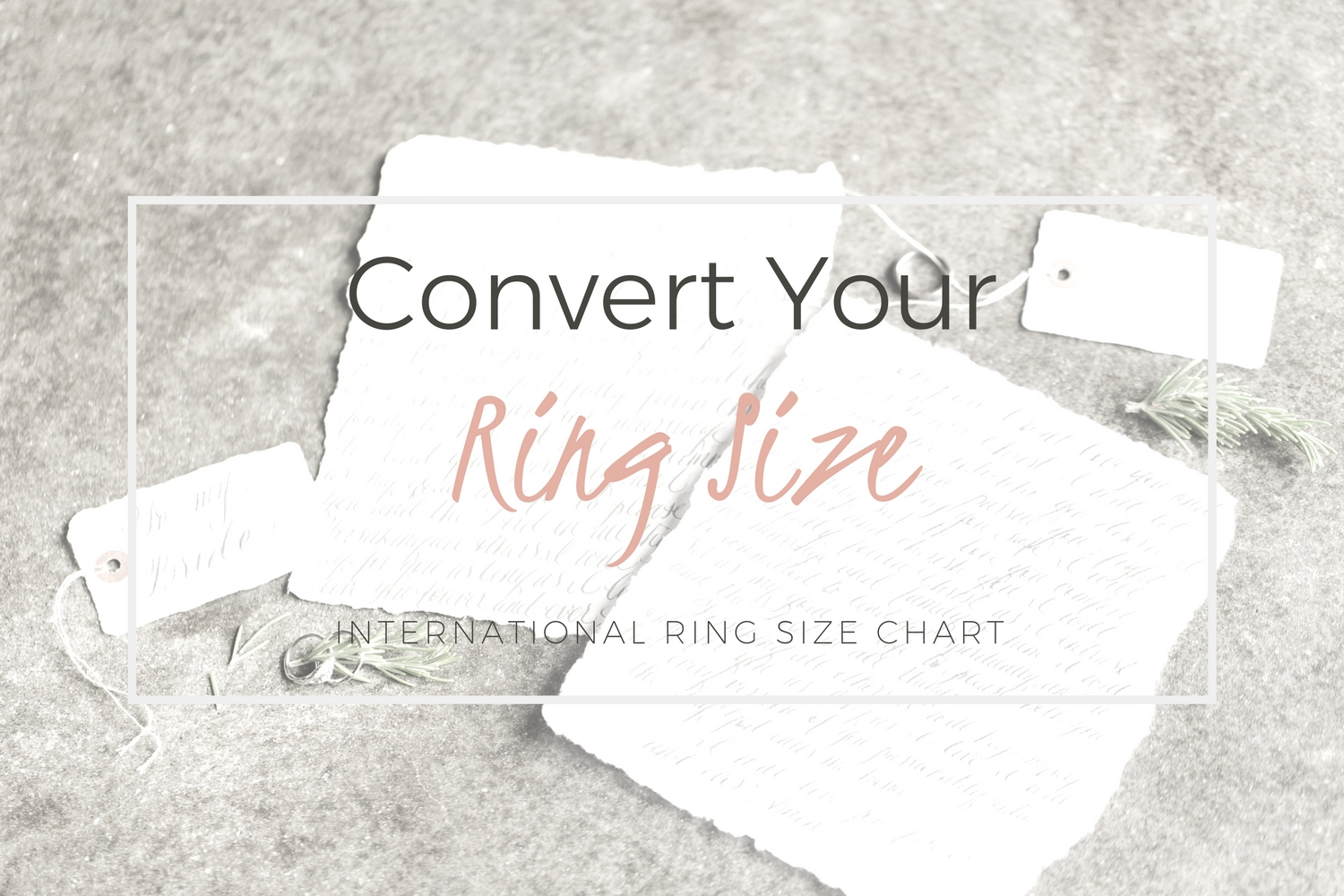 Convert Your Ring Size International Ring Size Conversion Chart