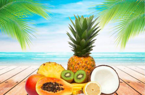 An exotic blend of mango, pineapple and kiwi.