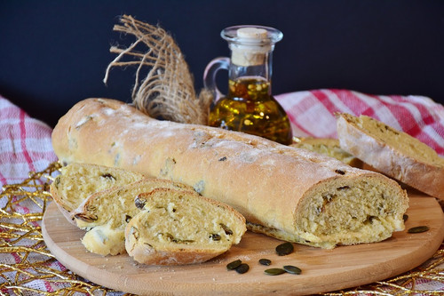 The delicious and inviting aroma of freshly baked bread. A welcome aroma that fills kitchens and bakeries.
