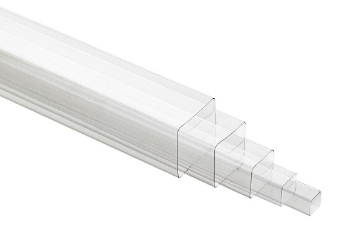 Clear Square Plastic Tubes