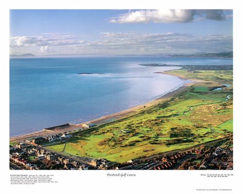 Prestwick Golf Club aerial print