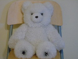 Alpaca Teddy Bear - White 19 inches