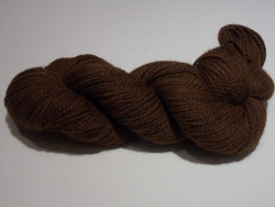 2 ply - Camelot Organic Dark Brown - Lt Sport weight Alpaca Yarn