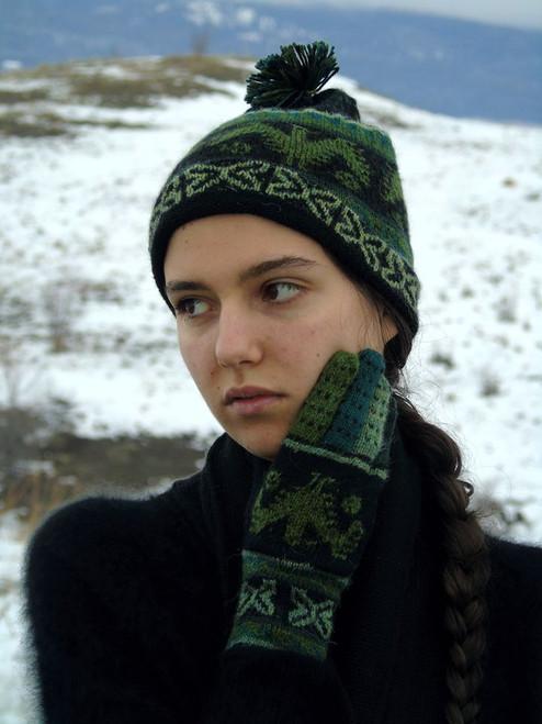 Alpaca matching hat, scarf, gloves set