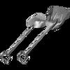 SANI-LAV - Reinforced Stainless Steel Shovel - 237R